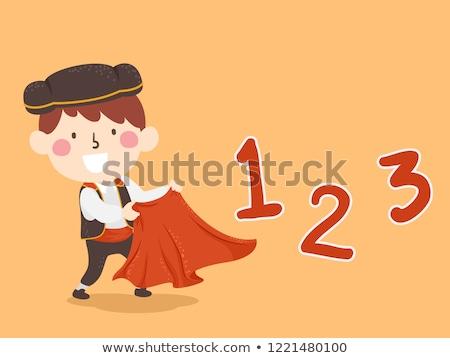 スペイン語 子供 少年 番号 123 実例 ストックフォト © lenm