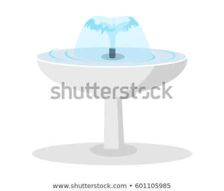 白 セラミック 噴水 水 ベクトル 孤立した ストックフォト © robuart