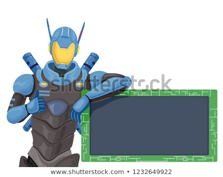 Robot Police Circuit Board Illustration Stock photo © lenm