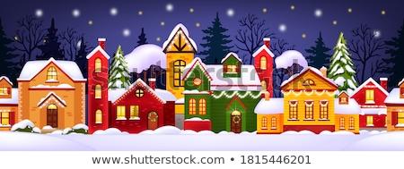 市 冬 雪 1泊 クリスマス 旧市街 ストックフォト © liolle