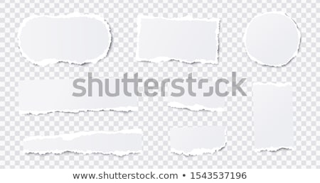 set seamless torn holes on paper stock photo © -talex-