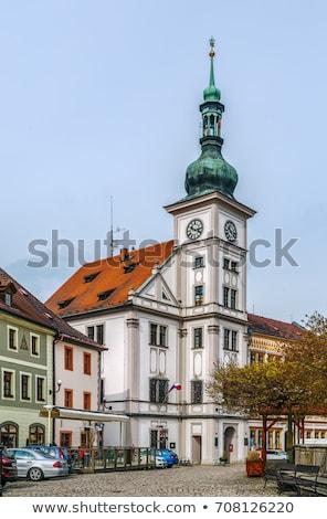 Hoofd- vierkante Tsjechische Republiek stad avond gebouw Stockfoto © borisb17
