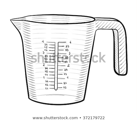 Measuring Cup For Baking And Cooking Color Vector Stock photo © pikepicture