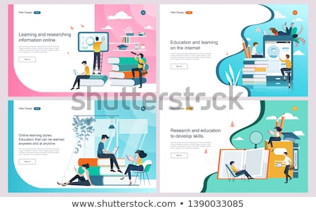Information technology courses concept landing page Stock photo © RAStudio