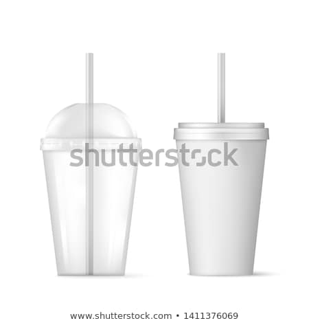 Café descartável papel plástico vidro isolado Foto stock © robuart