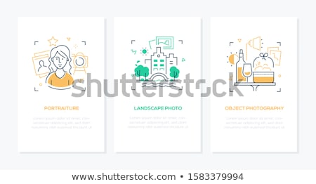 Photography concept - line design style banners set Stock photo © Decorwithme