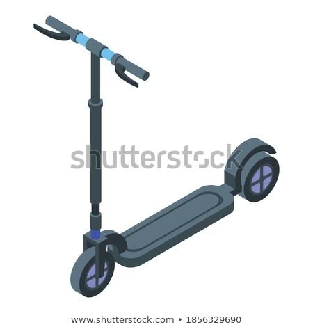 Kid Balancing on Wheel, Electric Transport Vector Stock photo © robuart