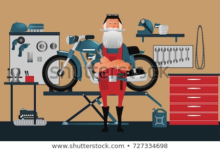 Man motor motorfiets vector Stockfoto © robuart