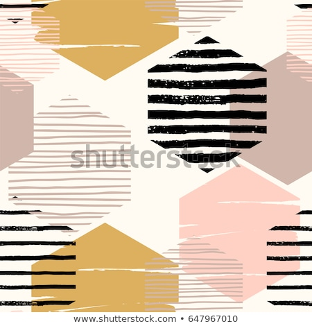 hand drawn honeycomb background. Colorful pattern with hexagon lattice background. Stock Vector illu Stock photo © kyryloff