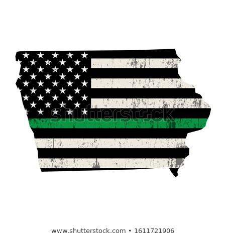 Айова военных поддержки американский флаг иллюстрация форма Сток-фото © enterlinedesign