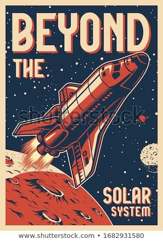 space shuttle rocket sign color logo logotype vector Stock photo © vector1st