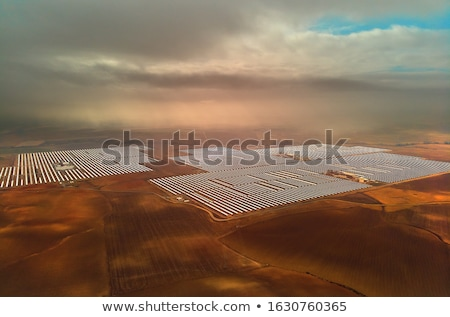 Aerial image drone point of view photo Gemasolar Concentrated so Stock photo © amok