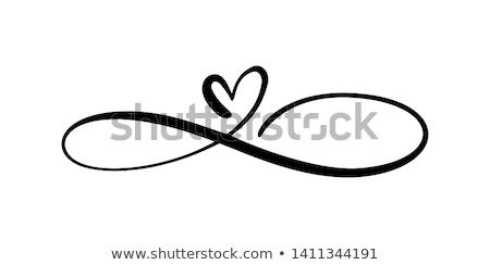 Hart oneindigheid vorm schoonschrift citaat Stockfoto © Zsuskaa
