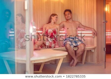 Paar kaukasisch vrouw asian man genieten Stockfoto © Kzenon