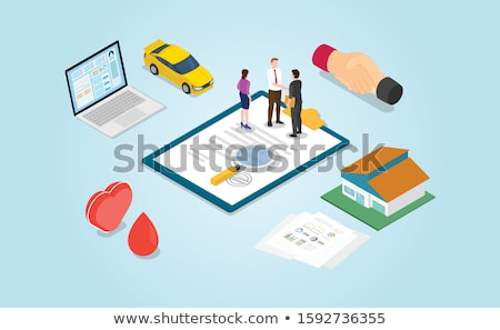 Property Car House Insurance Isometric Stock photo © -TAlex-