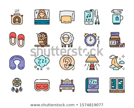 Cozy Pillow For Sleeping Icon Outline Illustration Stock photo © pikepicture