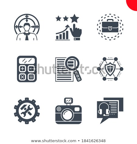 Stockfoto: Research Briefcase Related Vector Glyph Icon