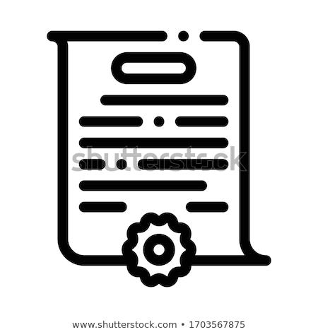 Durum ikon vektör örnek imzalamak Stok fotoğraf © pikepicture
