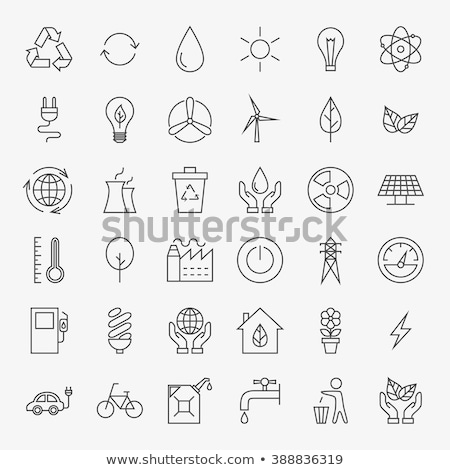 water power plant icon vector outline illustration Stock photo © pikepicture