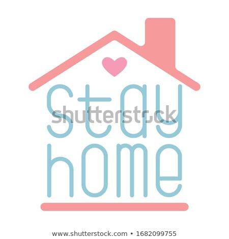 Tartózkodás otthon széf tanács ház munka Stock fotó © SArts