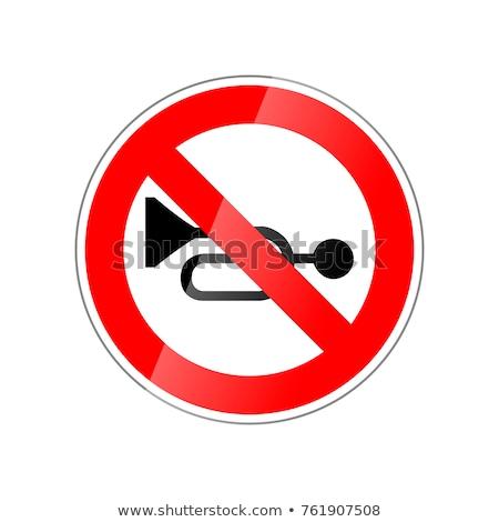 Niet hoorn verboden Rood glanzend teken Stockfoto © evgeny89