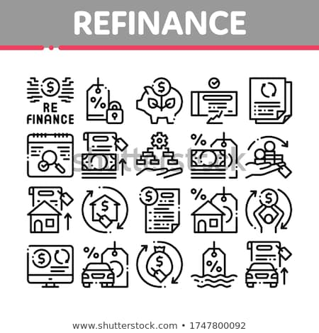 Refinance Financial Collection Icons Set Vector Stock photo © pikepicture