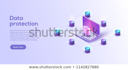 Phishing isometric icon vector illustration Stock photo © pikepicture