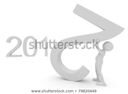 人 日付 2012 3dのレンダリング 白 ストックフォト © fotoaloja