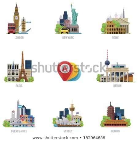 Franciaország Buenos Aires történelmi Argentína dél-amerika égbolt Stock fotó © Spectral