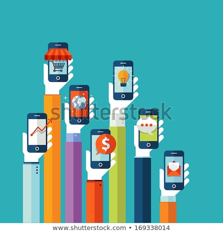 modern mobile phone with globe stock photo © themoderncanvas