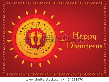 abstract artistic diwali background with border Stock photo © pathakdesigner