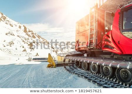 Vektör doğa kış hareketli dağlar Kayak Stok fotoğraf © pavelmidi