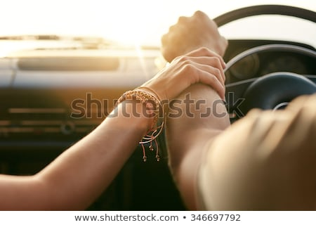 Loving couple on the road Stock photo © pekour