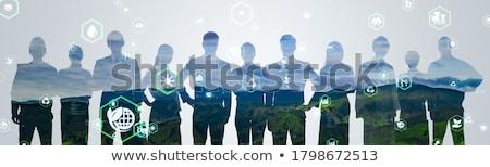бизнесменов Мир деловые люди команда Мир карта человека Сток-фото © pkdinkar