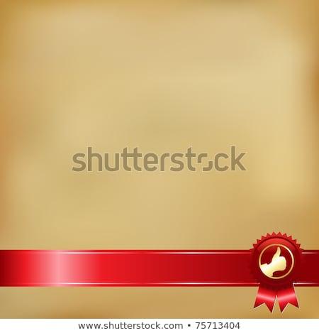 czerwony · pieczęć · złota · wektora · odizolowany - zdjęcia stock © adamson