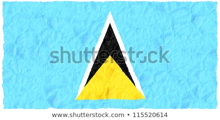 Grunge Flag Saint Lucia Stock photo © HypnoCreative