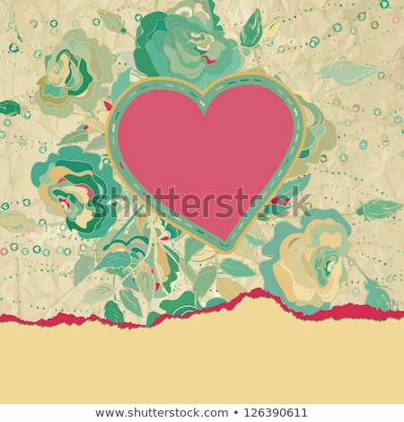 hearts valentines day or wedding template eps 8 stock photo © beholdereye