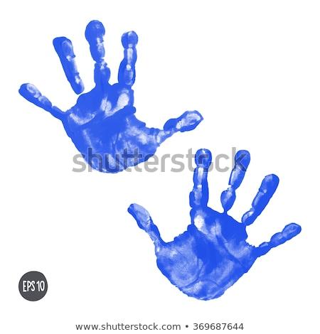 Blue handprint Stock photo © IMaster