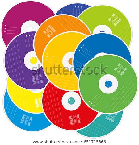 CDs DVDs Disks on White Background Stock photo © bobbigmac