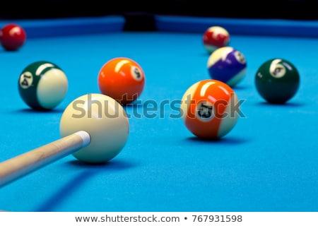 Bilardo yeşil tablo spor arka plan kulüp Stok fotoğraf © BrunoWeltmann