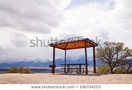 Foto stock: Lonely Pergola At The Top Of The Hill
