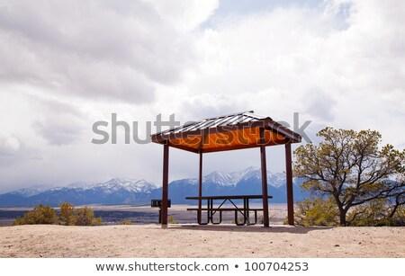 Stockfoto: Eenzaam · top · heuvel · landschap · schoonheid · berg
