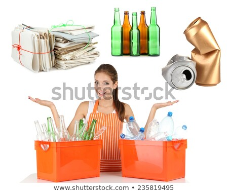 Zdjęcia stock: Women Recycling Domestic Waste