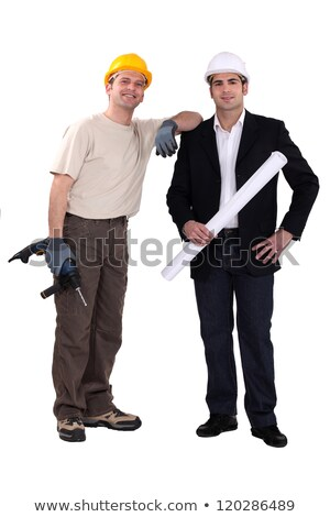 architect stood with man holding drill stock photo © photography33