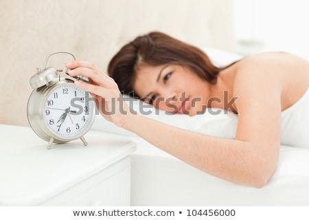 женщину спящий столе работу модель ноутбука Сток-фото © photography33