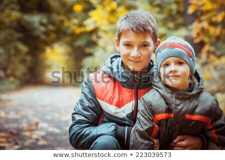 autumn in the park vertically stock photo © frank11