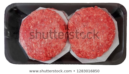 Packaged Beef Patties stock photo © kitch