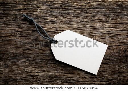 Photo stock: Prix · tag · étiquette · bois · papier · bois