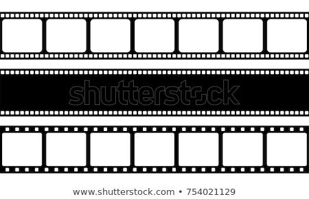 Taśmy filmowej odizolowany biały ramki czarny klip Zdjęcia stock © raywoo