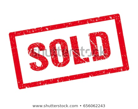 sold out - written with coins on white background Stock photo © pterwort